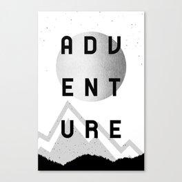 Adventure Silver Sunrise Canvas Print