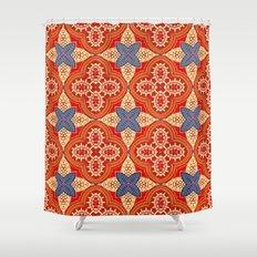 Moroccan Motet Pattern Shower Curtain