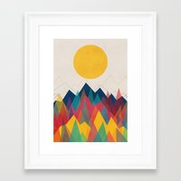 mountain Framed Art Prints featuring Uphill Battle by Picomodi