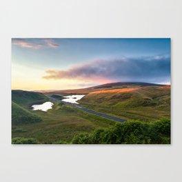 Vanishing Lakes,Ireland,Northern Ireland,Ballycastle Canvas Print