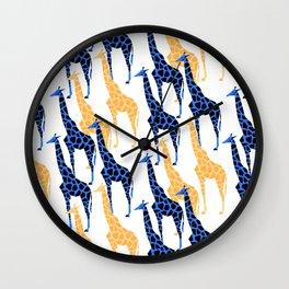 Giraffes march Wall Clock
