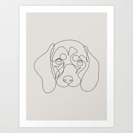 One Line Dachshund Art Print