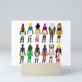 Superhero Butts - Girls Superheroine Butts LV Mini Art Print
