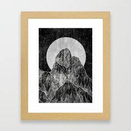 The Lone peaks of the moon Framed Art Print
