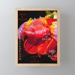 RED Eros & Death Framed Mini Art Print