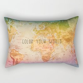 Color your World Rectangular Pillow