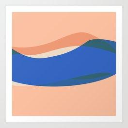 Peach Waves, but Extra Art Print