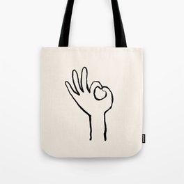 OK hand Tote Bag