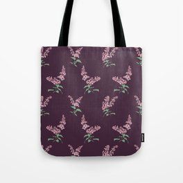 Lilac Flowers Spring Pattern Tote Bag