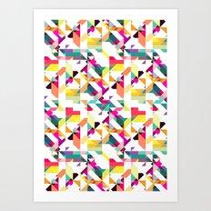 Aztec Geometric IV Art Print