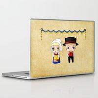 swedish Laptop & iPad Skins featuring Swedish Chibis by artwaste
