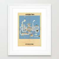 argentina Framed Art Prints featuring Argentina by federico babina