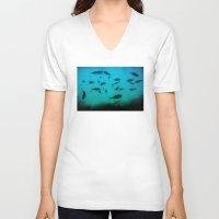 underwater V-neck T-shirts featuring Underwater by Situs