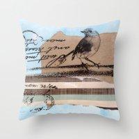 birdy Throw Pillows featuring Birdy by zAcheR-fineT