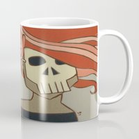 death Mugs featuring Death by Willow Dawson