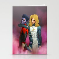 nightcrawler Stationery Cards featuring Demon and Angel by Kimball Gray