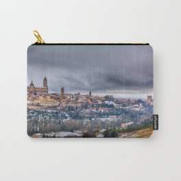 Segovia in Spain snowed in winter. Carry-All Pouch