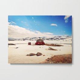 Red House Metal Print
