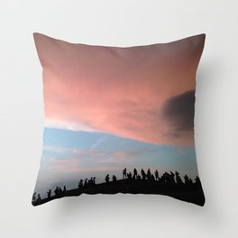 Belgrade Sunset Throw Pillow