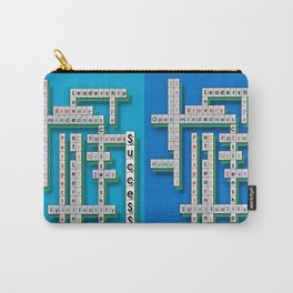 Cross Word Puzzle of Success Carry-All Pouch