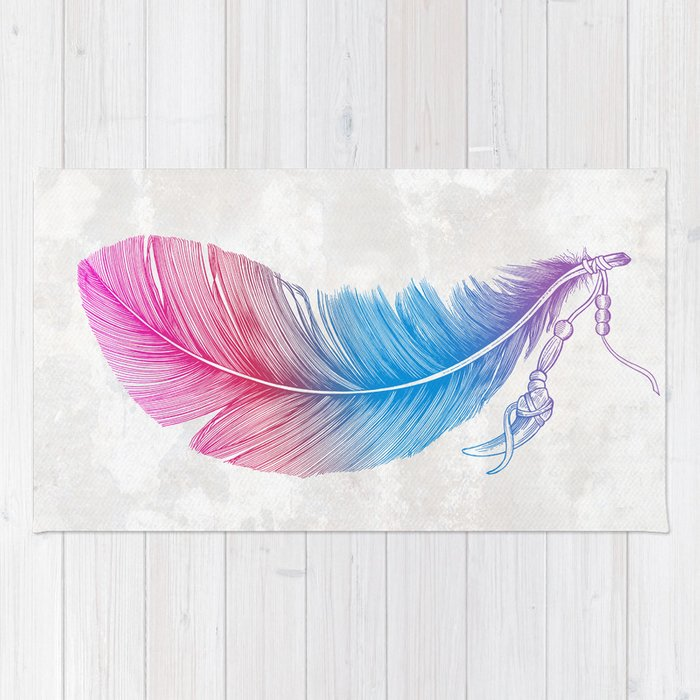Colors of a Feather Rug