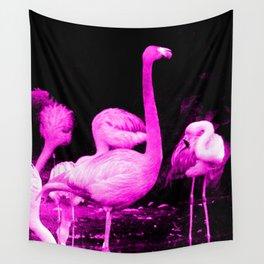 Hot Pink Flamingos Wall Tapestry