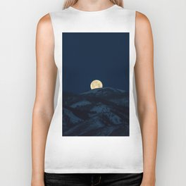 Moonset on the Wasatch Back Biker Tank
