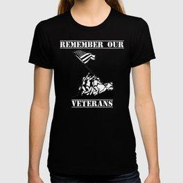 Remember Our Veterans Patriotic Veterans Day Shirt T-shirt