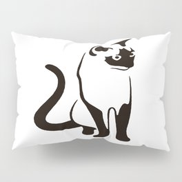 Siamese Cat Design Pillow Sham