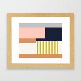 Sol Abstract Geometric Print in Multi Framed Art Print