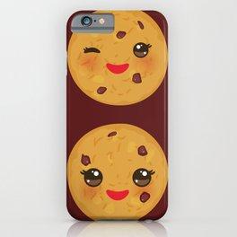 Kawaii Chocolate chip cookie iPhone Case