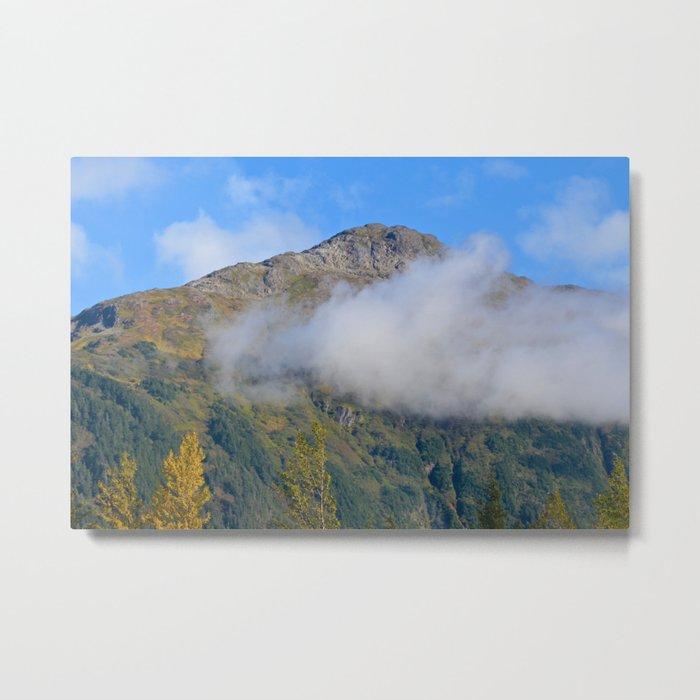 Autumn Mountain Fog - Alaska Metal Print