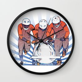 Cool Runnings - Bobsleigh 4 men team Wall Clock