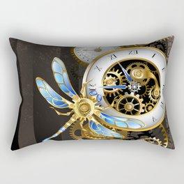 Dials with Dragonfly ( Steampunk ) Rectangular Pillow
