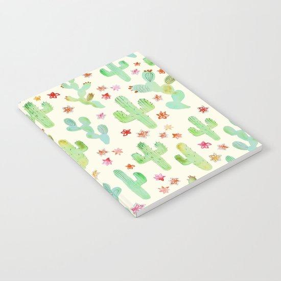 Watercolor Cacti Notebook