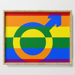 Gay Pride Rainbow Flag Boy Man Gender Male Serving Tray