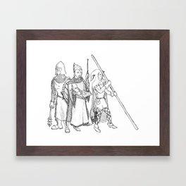 Ten Foot Pole Framed Art Print