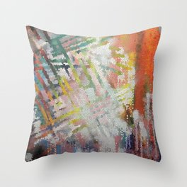 Stained Art Throw Pillow