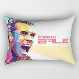Gareth Bale in Colorful WPAP Rectangular Pillow