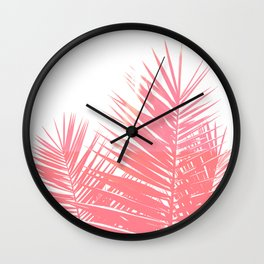 Plant Life in Pink Wall Clock