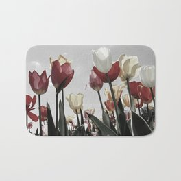 Tulip flowers Bath Mat