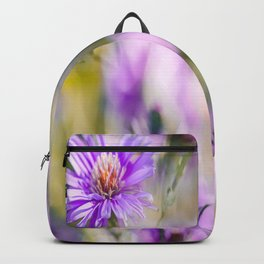 Summer dream - purple flowers - happy and colorful mood Backpack