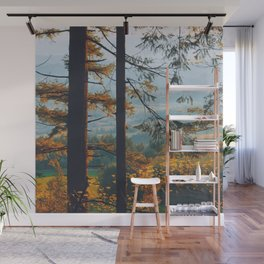 Earthscape Landscape Photography Tall Autumn Fall Trees Overlooking Fields Wall Mural
