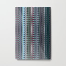 Transitory Waveform Metal Print