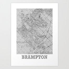 Brampton Pencil City Map Art Print