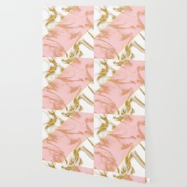 Pink gold marble Wallpaper