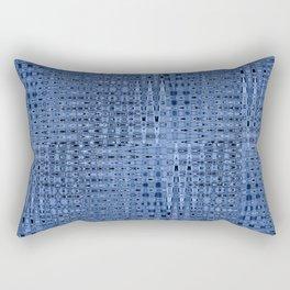 Busy Blue Mosaic Millefiori Zigzag Pattern Rectangular Pillow