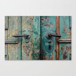 Door Sibiu color palette Canvas Print