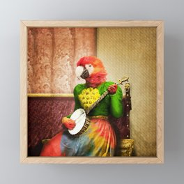 Banjo Birdy Plucks a Pretty Tune! Framed Mini Art Print