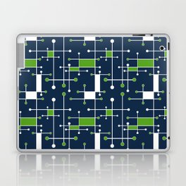 Intersecting Lines in Navy, Lime and White Laptop & iPad Skin